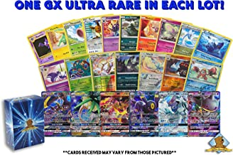 Pokemon Lot of 100 Cards – GX Rares – Foil Rares! Includes Golden Groundhog Deck Box!