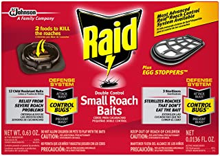 Raid Double Control Small Roach Baits Plus Egg Stopper 0.63 Ounce (Pack of 1)