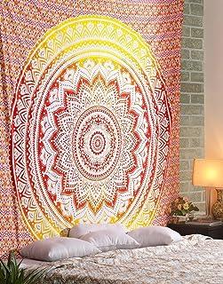 Om Export Ombre Indian Mandala Bohemian Art Hippie Wall Hanging Bedspread Bedcover Beach Throw Blanket Room Dorm Bedsheet ...