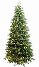 HOLIDAY STUFF Luxury Real Feel Forest Fir Slim Christmas Tree Pre-lit with Dual Color Lights (7ft)