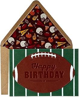 Hallmark Signature Birthday Card for Him (Football)