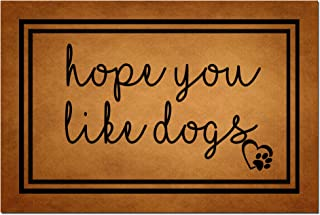 MOMOBO Funny Doormat with Rubber Back -Hope You Like Dogs Door Mat Entrance Way Doormat Non Slip Backing Funny Doormat Ind...