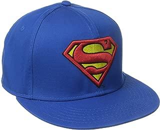 DC Comics Men's Superman Flat Brim Snap Back Hat