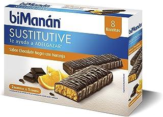 Bimanán Sustitutive Barritas Chocolate Negro y Naranja 8