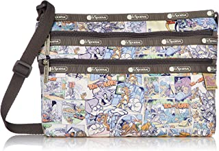 LeSportsac Tom and Jerry, Comic Quinn Crossbody Handbag, Style 3352/Color K778 (Retro comic strip)