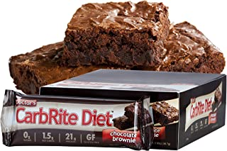 CarbRite Diet Bars – Keto, Low Carb, Sugar Free, Gluten Free, Fats, Protein - Chocolate Brownie - 12 Bars