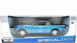 Maisto Blue 1968 Chevrolet Camaro Z/28 - 1:18 Diecast Model Car Black Special Edition