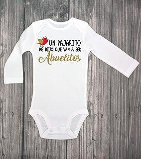 Un pajarito me dijo que van a ser ABUELITOS, baby announcement bodysuit, surprise, guess what, baby coming soon, baby bodysuit, IVF - spanish - pregnancy reveal - grandparents Hola abuelitos