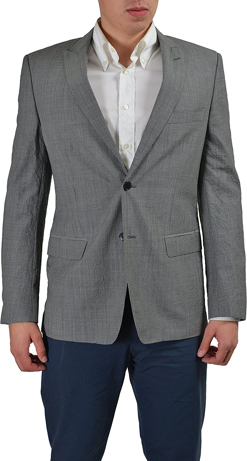 Versace Collection 100% Virgin Wool Gray Men's Two Buttons Blazer US 38 IT 48