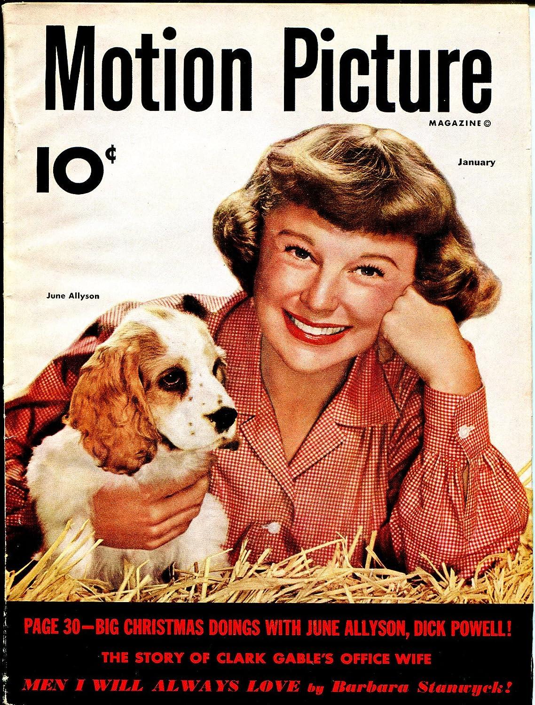 Direct store Motion Picture 1 1951-June half Allyson-Barbara Gable- Stanwyck-Clark