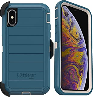 OtterBox Defender Series Rugged Case & Holster for iPhone Xs & iPhone X - Non-Retail Packaging - Big Sur (with Microbial D...