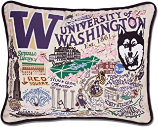 Catstudio University of Washington Collegiate Embroidered Decorative Throw Pillow   Beautiful Award Winning Home Decor Artwork   Great for The Living, Family, Bed Rooms