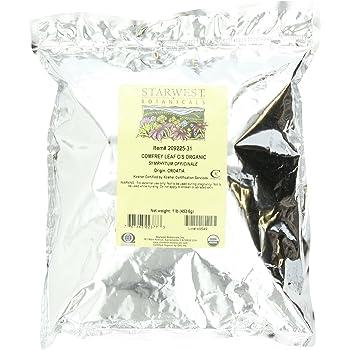 Starwest Botanicals Organic Comfrey Leaf Cut and Sifted, 1 Pound Bulk Bag