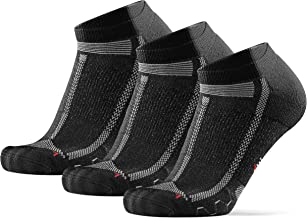 DANISH ENDURANCE Laag uitgesneden Hardloopsokken voor lange afstanden voor mannen en vrouwen, 3 pak, anti-blaar, gewatteer...