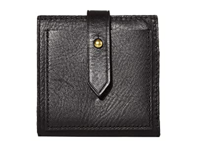 Madewell Bifold Post Wallet (True Black) Handbags