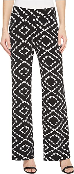 "Pack and Go Travel Jersey 30"" Printed Pull-On Wide Leg Pants"