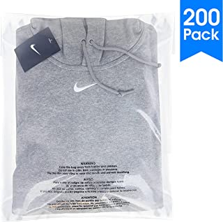 200 Count - 14 X 20 Self Seal 1.5 Mil Clear Plastic Poly Bags with Suffocation Warning - Permanent Adhesive by Spartan Industrial (More Sizes Available)
