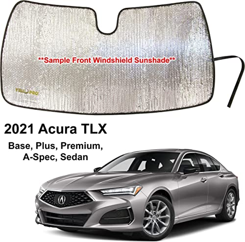 discount YelloPro Custom Fit outlet sale Front Windshield Reflective Sunshade for 2021 Acura TLX Sedan, Base, Plus, Premium, A-Spec new arrival Sedan, Sun Shade Protector Accessories [Made in USA] online