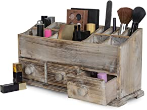 Vanity Drawer Beauty Organizer 3 Drawers – Wooden Cosmetic Storage Box for Neat..
