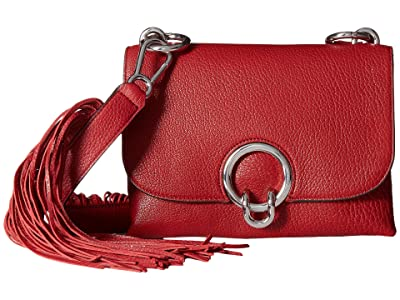 Rebecca Minkoff Isabel Crossbody w/ Fringe (Scarlet) Cross Body Handbags