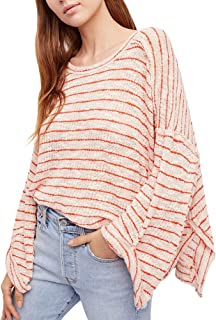$68 Womens New 1722 Pink Striped Ruched 3/4 Sleeve Top XS B+B