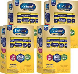 Enfamil NeuroPro Infant Formula - Brain Building Nutrition Inspired by Breast Milk - Single Serve Powder, 17.6 g (14 packe...