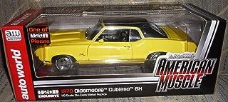 #4203 Ertl American Muscle Auto World 1970 Oldsmobile Cutlass SX,Yellow 1/18 Scale Diecast