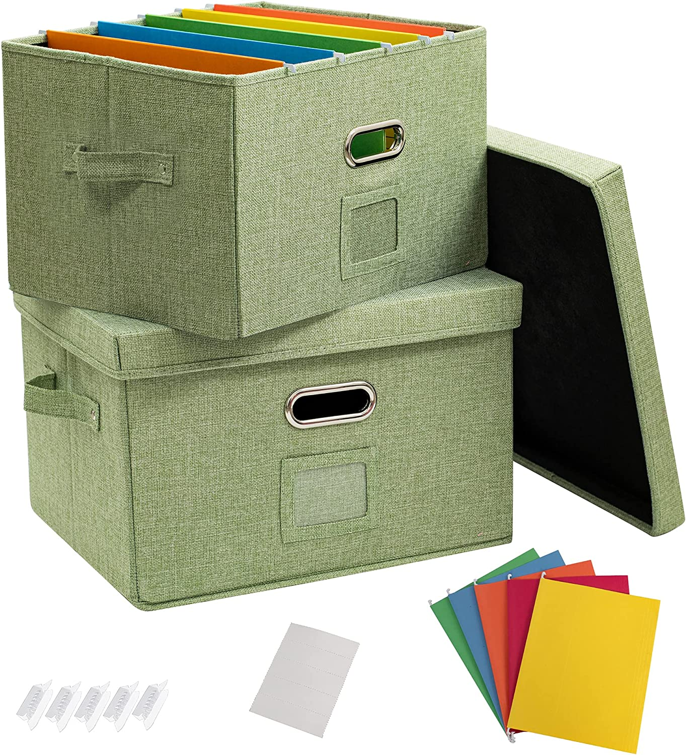 low-pricing JSungo 2 Pack File Ranking TOP15 Organizer Box Document with Li Office Storage