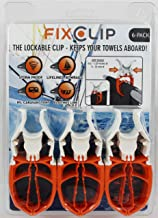 FIXCLIP - The Storm Proof & Lockable Clothespin - Award Winning Clip - Boats - RVs - Bowrails - Lifelines - Beach Chair - ...