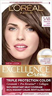 L'Oreal Paris Excellence Creme Permanent Hair Color, 5AB Mocha Ashe Brown, 1 Count..