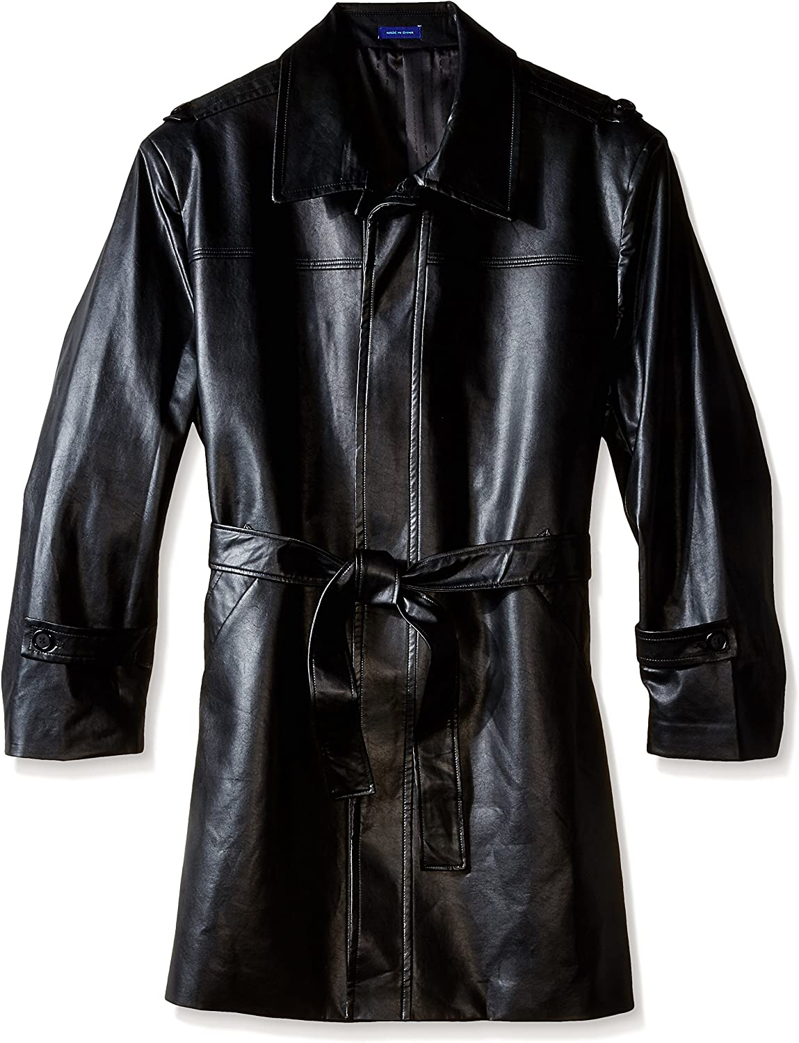 STACY ADAMS Men's Big and Tall Aspen Leather Faux Coat supreme Max 61% OFF Belted