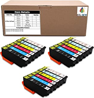 Big Dew 18 Pack Remanufactured 277XL Ink Cartridges Replacement For Epson 277 277XL T277 Ink Cartridges Used in Epson Expression XP-850 XP-860 XP-950 XP-960 Printer