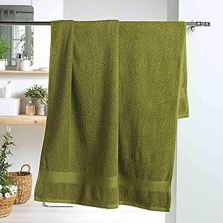 douceur dint/érieur drap de bain 90 x 150 cm eponge brodee fougerys gris