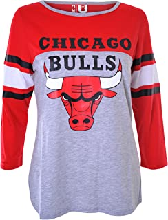 Ultra Game NBA Women's T-Shirt Raglan Baseball 3/4 Long Sleeve Tee Shirt