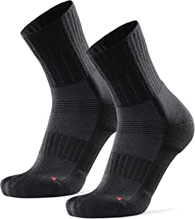 DANISH ENDURANCE Trail Running Socks for Men & Women, Crew Cut, Technical, Anti-Blister Cushioned, Ankle & Arch Support, P...