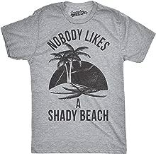 Mens Shady Beach Funny Shirts Cute Palm Trees Vintage Novelty Hilarious T Shirt