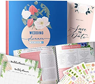Online Wedding Planner | Step-By-Step Binder to Organize Your Dream Day Using Stickers, Photos & Pictures | Journal For Organizing a Wedding by Yourself | Gift for Brides |