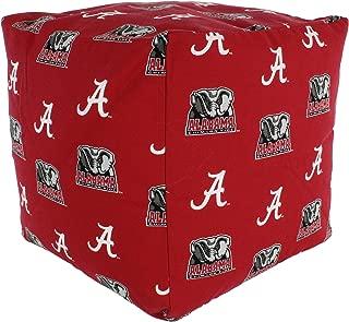 College Covers Alabama Crimson Tide Cube Cushion Pouf Chair Bean Bag Ottoman