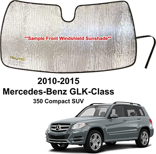 wholesale YelloPro Custom Fit Automotive Reflective Front Windshield Sunshade for 2010 2011 2012 online 2013 popular 2014 2015 Mercedes Benz GLK Class 350 Compact SUV, UV Reflector Sun Protection Accessories sale