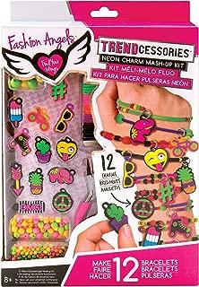 Fashion Angels Enterprises 30.12063 12063 Neon Emoji Charm Mash-Up Bracelet Kit, Multicolor