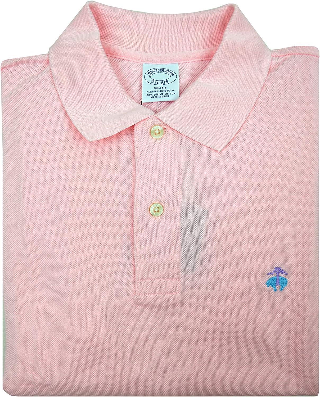 Brooks Brothers Mens Slim Fit Mesh Cotton Performance Polo Shirt