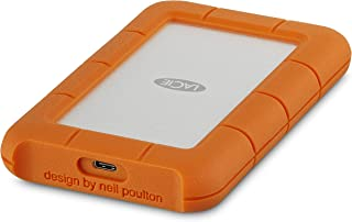 LaCie 莱斯 Rugged USB-C and USB 3.0 1TB Portable Hard Drive - STFR1000800