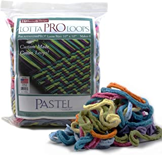 """Harrisville 10"""" Pro Pastel Lotta Loops in Assorted Colors – Makes 8 Potholders"""