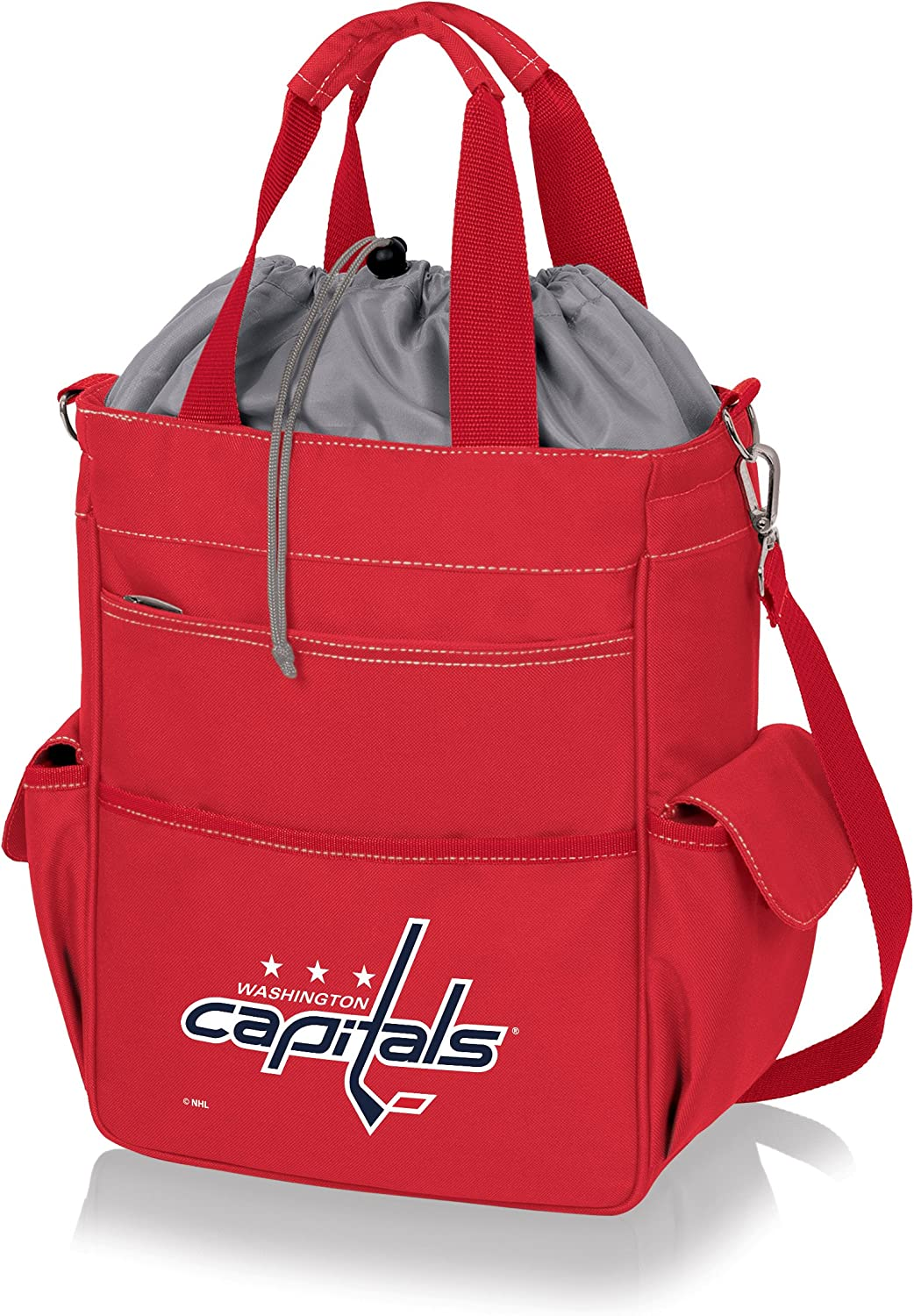 PICNIC TIME NHL Washington Capitals Insulated Activo Tote, Red