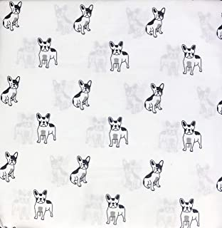 Cynthia Rowley 4 Piece Queen Size Bed Extra Deep Pockets Sheet Set Little Dogs/Puppies in Black, Gray and White