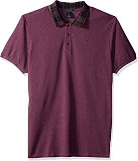 Scotch & Soda Men's Polo in Neps Pique Quality with Jacquard Rib Collar