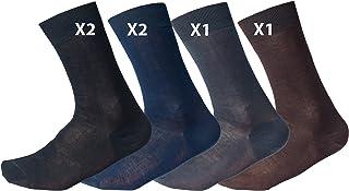 Calcetines cortos para hombre, algodón de alta calidad, 100% hilo de Escocia, 6 pares Assortimento Scuri 42-43