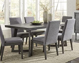 Signature Design By Ashley - Besteneer Rectangular Dining Room Table - Contemporary Style - Dark Gray