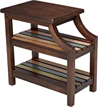 rustic chair side table