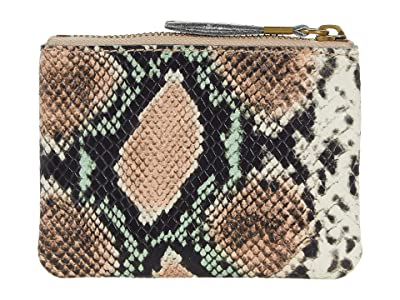 Madewell Leather Pouch Wallet In Snake